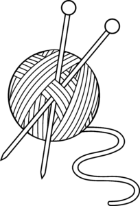 knitting_yarn_needles_lineart