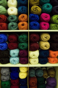 yarn-on-shelving